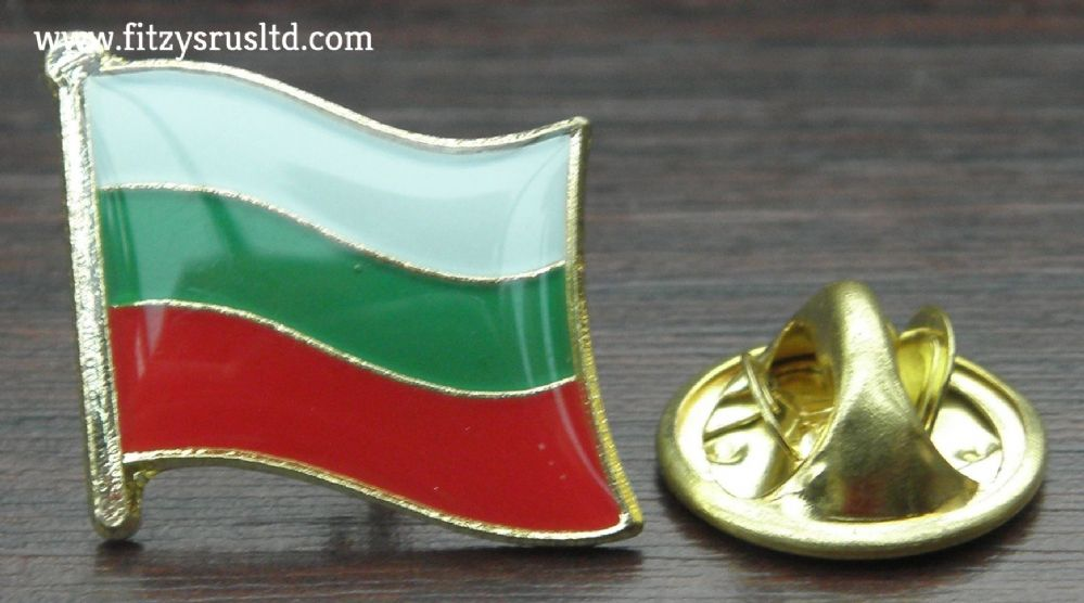 Bulgaria Country Flag Lapel Hat Cap Tie Pin Badge -   - New
